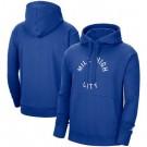 Men's Denver Nuggets Blue Statement Edition Fleece Pullover Hoodie