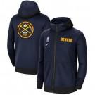 Men's Denver Nuggets Navy Showtime Performance Full Zip Hoodie Jacket