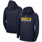 Men's Denver Nuggets Navy Spotlight On Court Practice Performance Pullover Hoodie