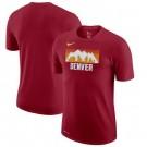 Men's Denver Nuggets Red Printed T Shirt 211049