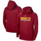 Men's Denver Nuggets Red Spotlight On Court Practice Performance Pullover Hoodie