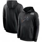 Men's Detroit Lions Black Crucial Catch Sideline Performance Pullover Hoodie