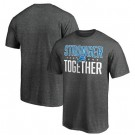 Men's Detroit Lions Heather Charcoal Stronger Together Printed T-Shirt 0820
