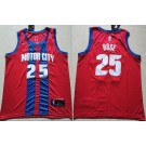 Men's Detroit Pistons #25 Derrick Rose Red City Icon Swingman Jersey