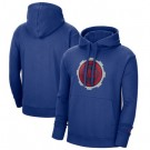 Men's Detroit Pistons Blue 2021 City Edition Essential Logo Fleece Pullover Hoodie
