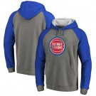 Men's Detroit Pistons Gray Blue 1 Printed Pullover Hoodie