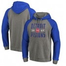 Men's Detroit Pistons Gray Blue 2 Printed Pullover Hoodie