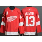 Men's Detroit Red Wings #13 Pavel Datsyuk Red Authentic Jersey