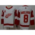 Men's Detroit Red Wings #8 Justin Abdelkader White Jersey