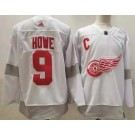 Men's Detroit Red Wings #9 Gordie Howe White 2021 Reverse Retro Authentic Jersey