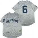 Men's Detroit Tigers #6 Al Kaline Gray 1968 Throwback Jersey