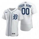 Men's Detroit Tigers Customized White 2020 FlexBase Jersey