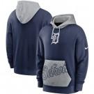Men's Detroit Tigers Navy Heritage Tri Blend Pullover Hoodie