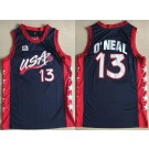 Men's Dream 3 USA #13 Shaquille O'Neal Navy Swingman Jersey