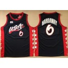 Men's Dream 3 USA #6 Penny Hardaway Navy Swingman Jersey
