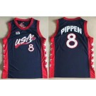 Men's Dream 3 USA #8 Scottie Pippen Navy Swingman Jersey