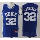 Men's Duke Blue Devils #32 Christian Laettner Blue College Basketball Jersey