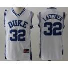 Men's Duke Blue Devils #32 Christian Laettner White College Basketball Jersey