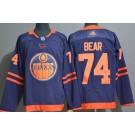 Men's Edmonton Oilers #74 Ethan Bear Navy 50th Anniversary Authentic Jersey