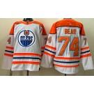 Men's Edmonton Oilers #74 Ethan Bear White 2021 Reverse Retro Authentic Jersey