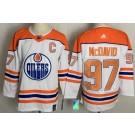 Men's Edmonton Oilers #97 Connor McDavid White 2021 Reverse Retro Authentic Jersey