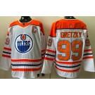 Men's Edmonton Oilers #99 Wayne Gretzky White 2021 Reverse Retro Authentic Jersey