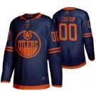 Men's Edmonton Oilers Customized Navy Alternate Authentic Jersey