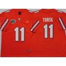 Men's Florida Gators #11 Kyle Trask Orange College Football Jersey