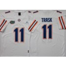 Men's Florida Gators #11 Kyle Trask White College Football Jersey