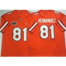Men's Florida Gators #81 Aaron Hernandez Orange 2020 College Football Jersey