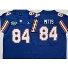 Men's Florida Gators #84 Kyle Pitts Blue College Football Jersey