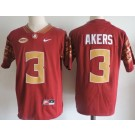 Men's Florida State Seminoles #3 Cam Akers Red College Football Jersey