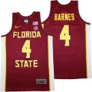 Men's Florida State Seminoles #4 Scottie Barnes Red College Basketball Jersey