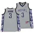 Men's Georgetown Hoyas #3 Allen Iverson Gray College Basketball Jersey