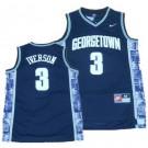 Men's Georgetown Hoyas #3 Allen Iverson Navy Blue College Basketball Jersey