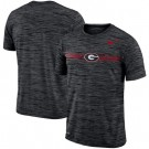 Men's Georgia Bulldogs Black Velocity Sideline Legend Performance T Shirt 201047