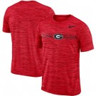 Men's Georgia Bulldogs Red Velocity Sideline Legend Performance T Shirt 201046