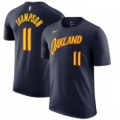Men's Golden State Warriors #11 Klay Thompson Navy City Printed T Shirt 211005