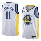 Men's Golden State Warriors #11 Klay Thompson White Icon Hot Press Jersey