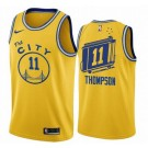 Men's Golden State Warriors #11 Klay Thompson Yellow Classic Icon Hot Press Jersey