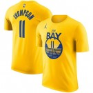 Men's Golden State Warriors #11 Klay Thompson Yellow Statement Printed T Shirt 211089
