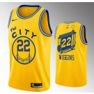 Men's Golden State Warriors #22 Andrew Wiggins Yellow Classic Icon Hot Press Jersey