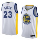 Men's Golden State Warriors #23 Draymond Green White Icon Hot Press Jersey