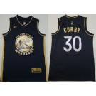 Men's Golden State Warriors #30 Stephen Curry Black Gold 2021 Icon Swingman Jersey