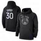 Men's Golden State Warriors #30 Stephen Curry Black Printed Hoodie 0782