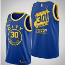 Men's Golden State Warriors #30 Stephen Curry Blue Classic Icon Hot Press Jersey