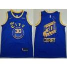Men's Golden State Warriors #30 Stephen Curry Blue Classic Icon Sponsor Swingman Jersey