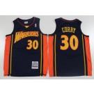 Men's Golden State Warriors #30 Stephen Curry Navy 2009 Throwback Swingman Jersey