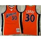 Men's Golden State Warriors #30 Stephen Curry Orange 2009 Throwback Authentic Jersey