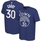 Men's Golden State Warriors #30 Stephen Curry Printed T-Shirt 0768